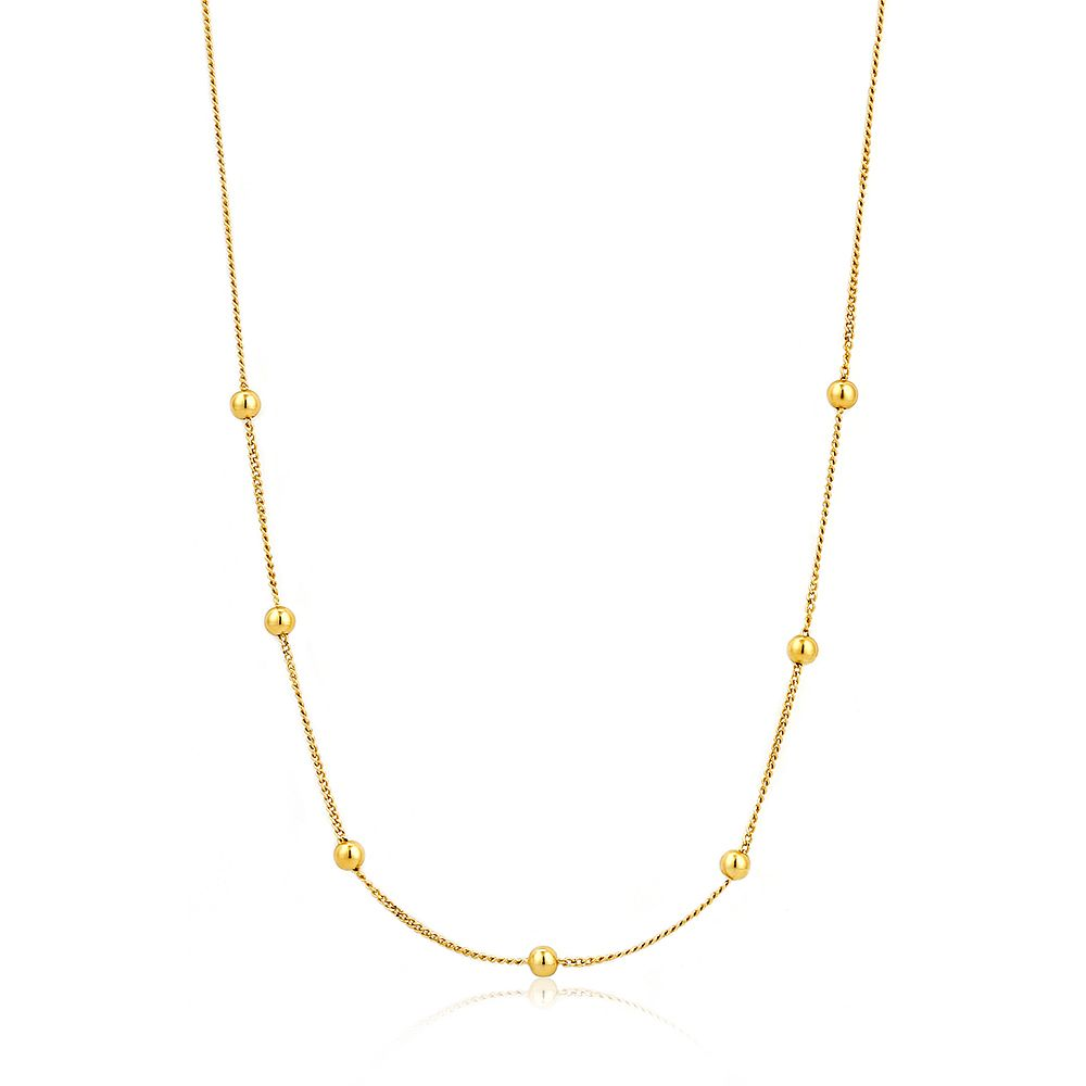 Ania Haie 14ct Yellow Gold Plated Beaded Necklace - Product number 1770225