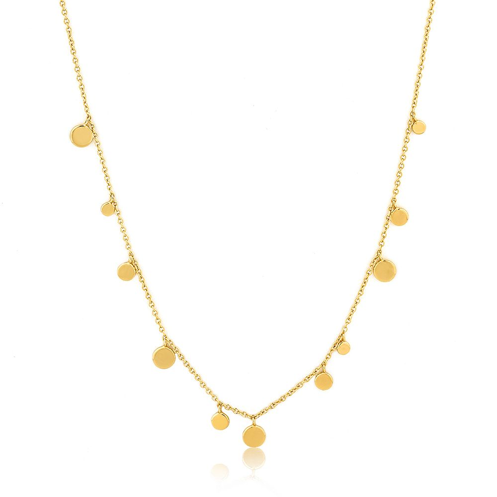 Ania Haie 14ct Yellow Gold Plated Geometric Disc Necklace - Product number 1770373