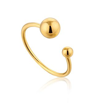 Ania Haie 14ct Yellow Gold Plated Orbit Adjustable Ring - Product number 1770772