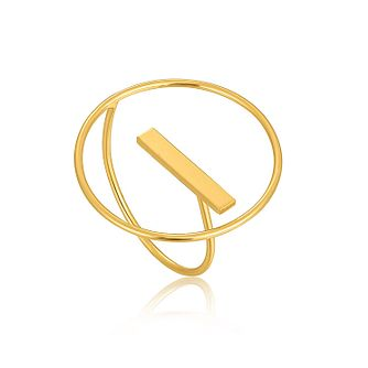 Ania Haie 14ct Yellow Gold Plated Modern Circle Ring - Product number 1770780