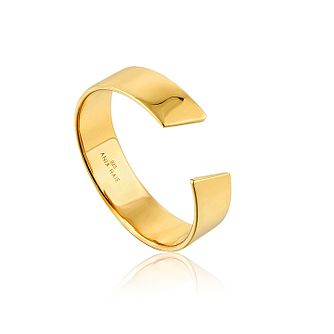 Ania Haie 14ct Yellow Gold Plated Geometry Adjustable Ring - Product number 1770810