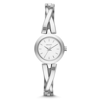 DKNY Crosswalk Ladies' Stainless Steel Semi Bangle Watch - Product number 1776339