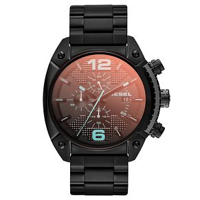 Diesel Overflow Men's Black Iridescent Dial Bracelet Watch - Product number 1776967