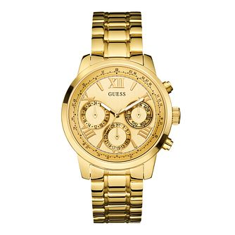 Guess Ladies' Multi Dial Gold-Plated Bracelet Watch - Product number 1780700