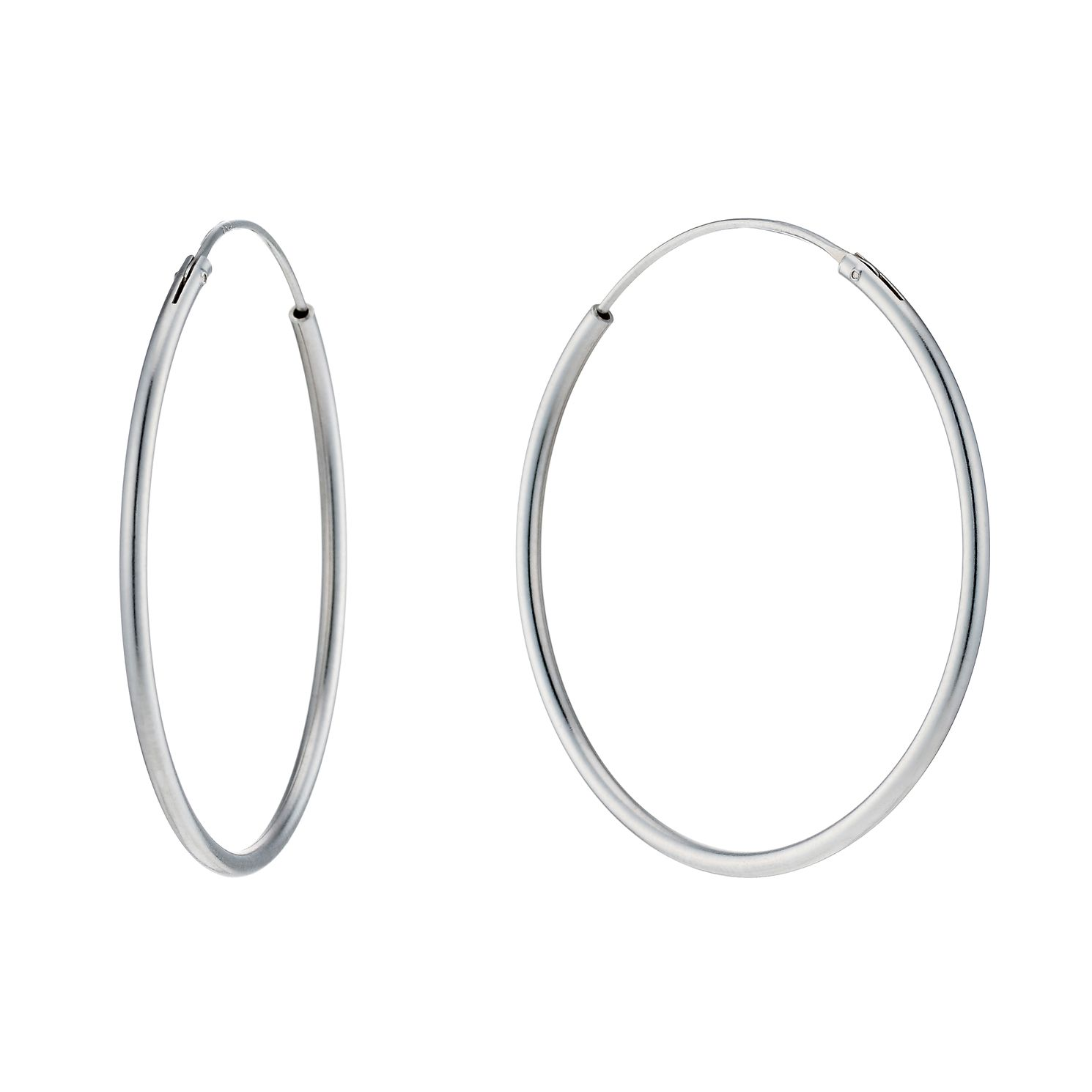 Sterling Silver 35mm Sleeper Earrings - Product number 1783106