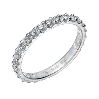 Sterling Silver Cubic Zirconia Claw Set Ring Size N - Product number 1783386