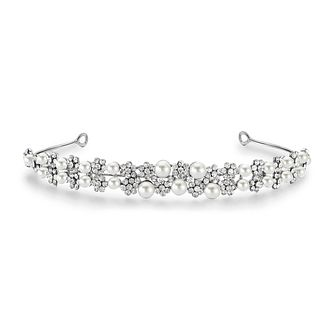 Mikey Crystal & Pearl Filigree Tiara - Product number 1828517