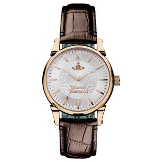 Vivienne Westwood Men's Brown Leather Strap Watch - Product number 1846280