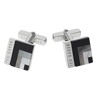 Ted Baker Brass Burro Art Deco Square Cufflinks - Product number 1865226