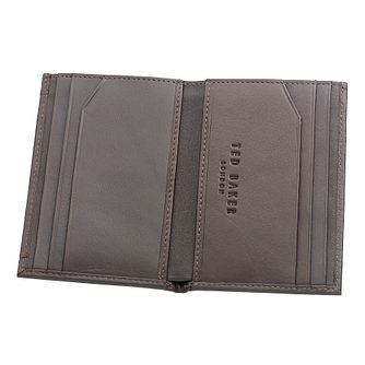 Ted Baker Zacks chocolate bi-fold leather wallet - Product number 1865250