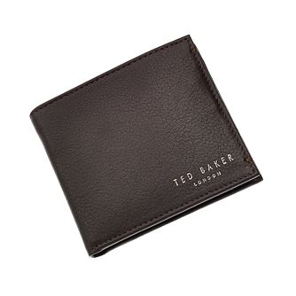 Ted Baker Harvys Chocolate Leather Bifold Wallet - Product number 1866486
