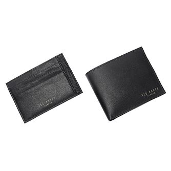 Ted Baker Hoffers black leather wallet & cardholder set - Product number 1870327