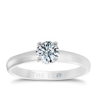 Leo Diamond platinum 1/2ct I-I1 solitaire ring - Product number 1930443
