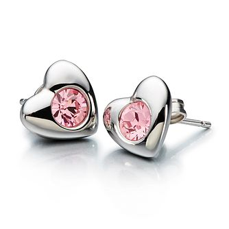 Chamilia Radiant Heart earrings with pink Swarovski crystal - Product number 1946803