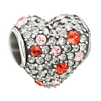 Chamilia Sterling Silver Pink Swarovski Elements Heart Bead - Product number 1947451