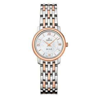 Omega De Ville Prestige ladies' two-tone bracelet watch - Product number 1954547