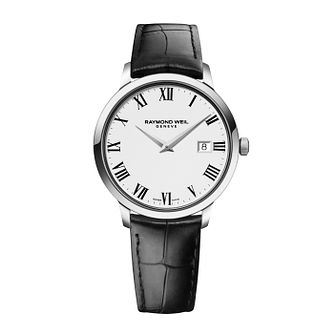 Raymond Weil Toccata men's black leather strap watch - Product number 1957724
