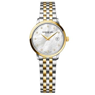 Raymond Weil Toccata ladies' diamond two-tone bracelet watch - Product number 1958003