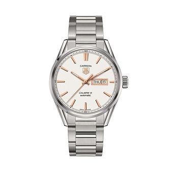TAG Heuer Carrera Calibre 5 men's steel bracelet watch - Product number 1958070