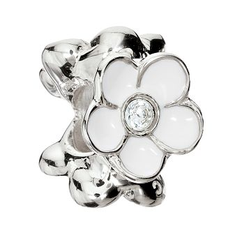 Chamilia Sterling Silver Crystal Blooming Jasmine Charm - Product number 1962329