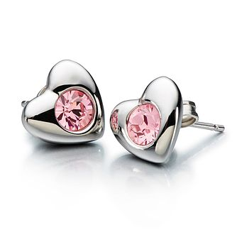 Chamilia Pink Swarovski Crystal Radiant Heart Stud Earrings - Product number 1962663