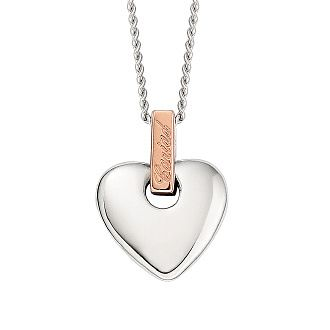 Clogau Silver & Rose Gold Cariad Small Heart Pendant - Product number 1964089