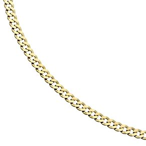 "9ct Gold 20"" Small Curb Chain Necklace - Product number 1968866"