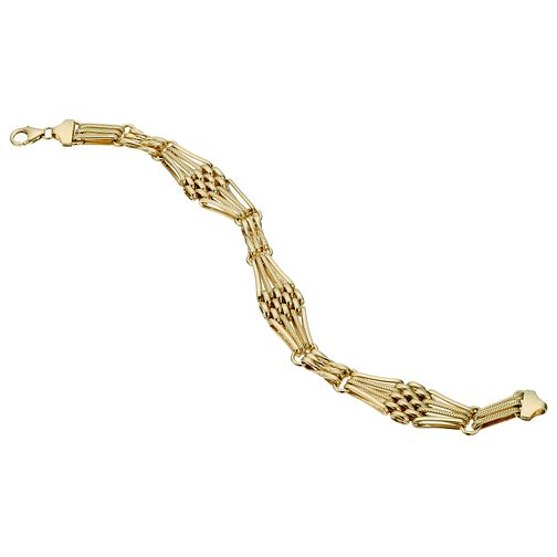 "Together Bonded Silver & 9ct Gold 7.5"" Gate Bracelet - Product number 1968882"