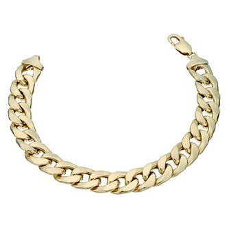 Together Silver & 9ct Bonded Gold 8.5 Inch Curb Bracelet - Product number 1968912