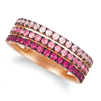 Le Vian 14ct Strawberry Gold Layer Cake Ruby Band Ring - Product number 1969617