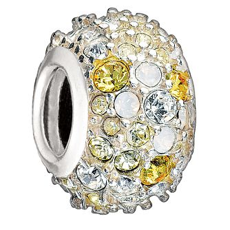 Chamilia - Sterling Silver & Yellow Swarovski Crystal Charm - Product number 1986678