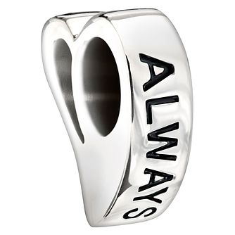Chamilia Sterling Silver Swarovski Crystal 'Always' Charm - Product number 1987690