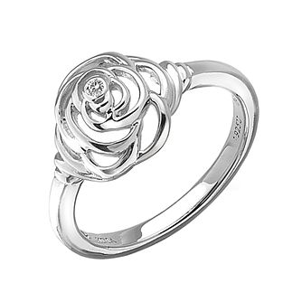 Hot Diamonds Eternal Rose Sterling Silver Ring Size L - Product number 1997653