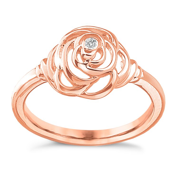 Hot Diamonds Eternal Rose Rose Gold Plated Ring Size N