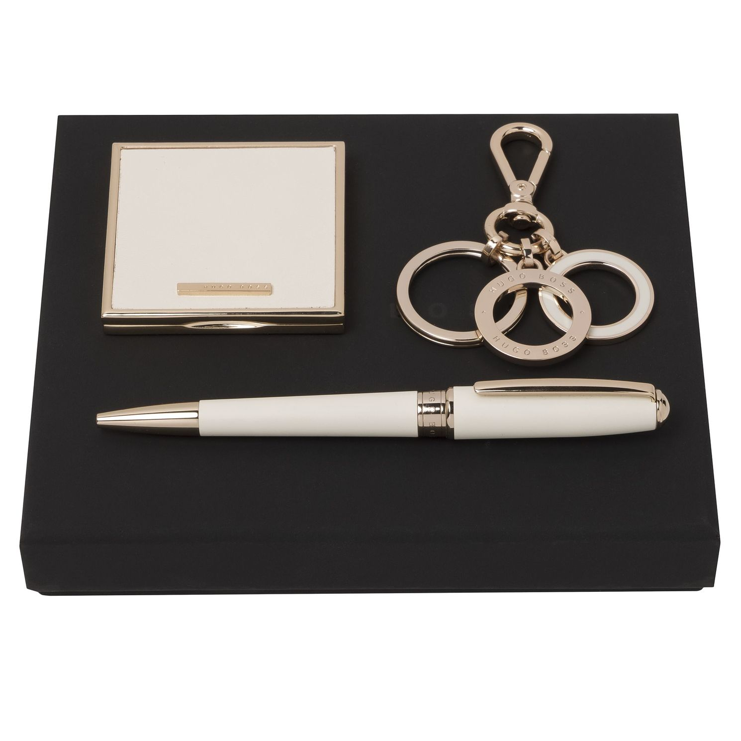 BOSS Ladies' White Ballpoint Pen & Mirror Gift Set - Product number 2002752