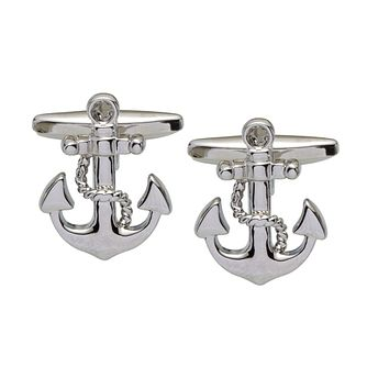 Stainless Steel Anchor Cufflinks - Product number 2005220