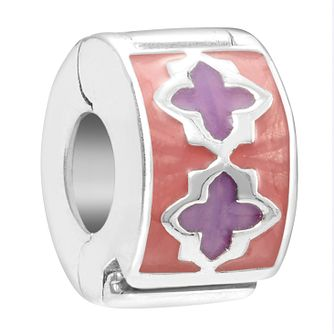 Chamilia Sterling Silver Pink & Purple Trellis Lock Charm - Product number 2008041
