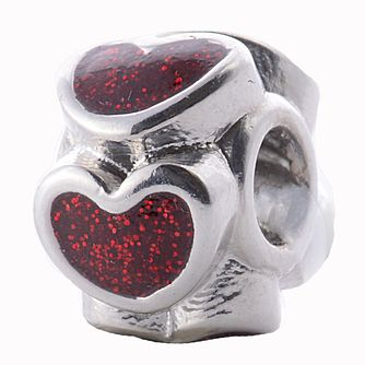 Charmed Memories Sterling Silver Red Enamel 'Love' Bead - Product number 2012030