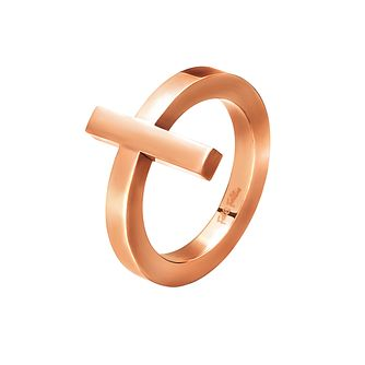 Folli Follie Carma rose gold-plated ring size N - Product number 2015269
