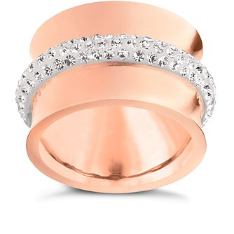 Folli Follie Dazzling rose gold-plated ring size L 1/2 - Product number 2015366