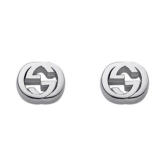 Gucci Sterling Silver Interlocking G Motif Stud Earrings - Product number 2016257