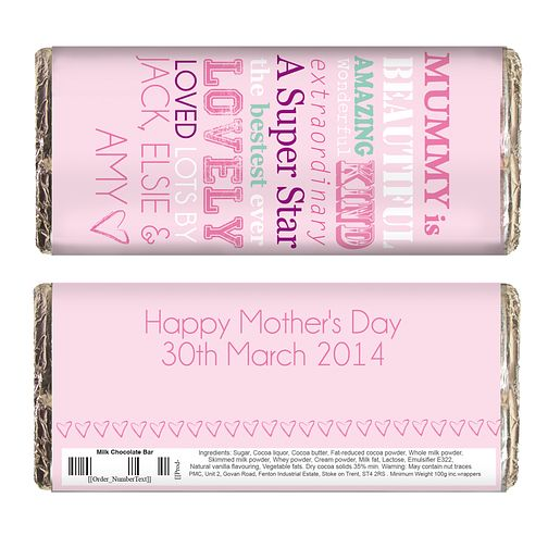 Personalised She Is Design Milk Chocolate Bar - Product number 2032678