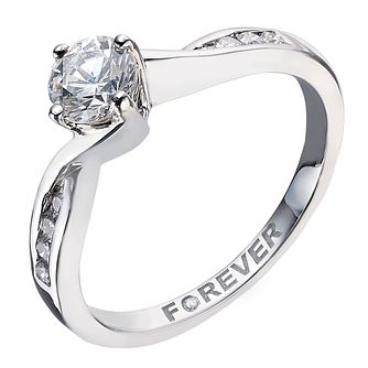 Palladium 1/2 Carat Forever Diamond Ring - Product number 2039168