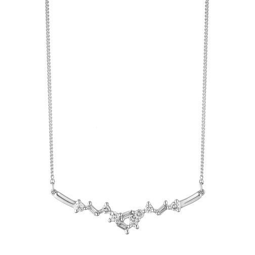 9ct White Gold 0.15ct Diamond Scatter Necklace - Product number 2049597