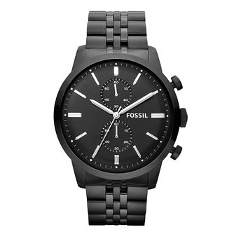 Fossil Townsman men's black ion-plated bracelet watch - Product number 2051346