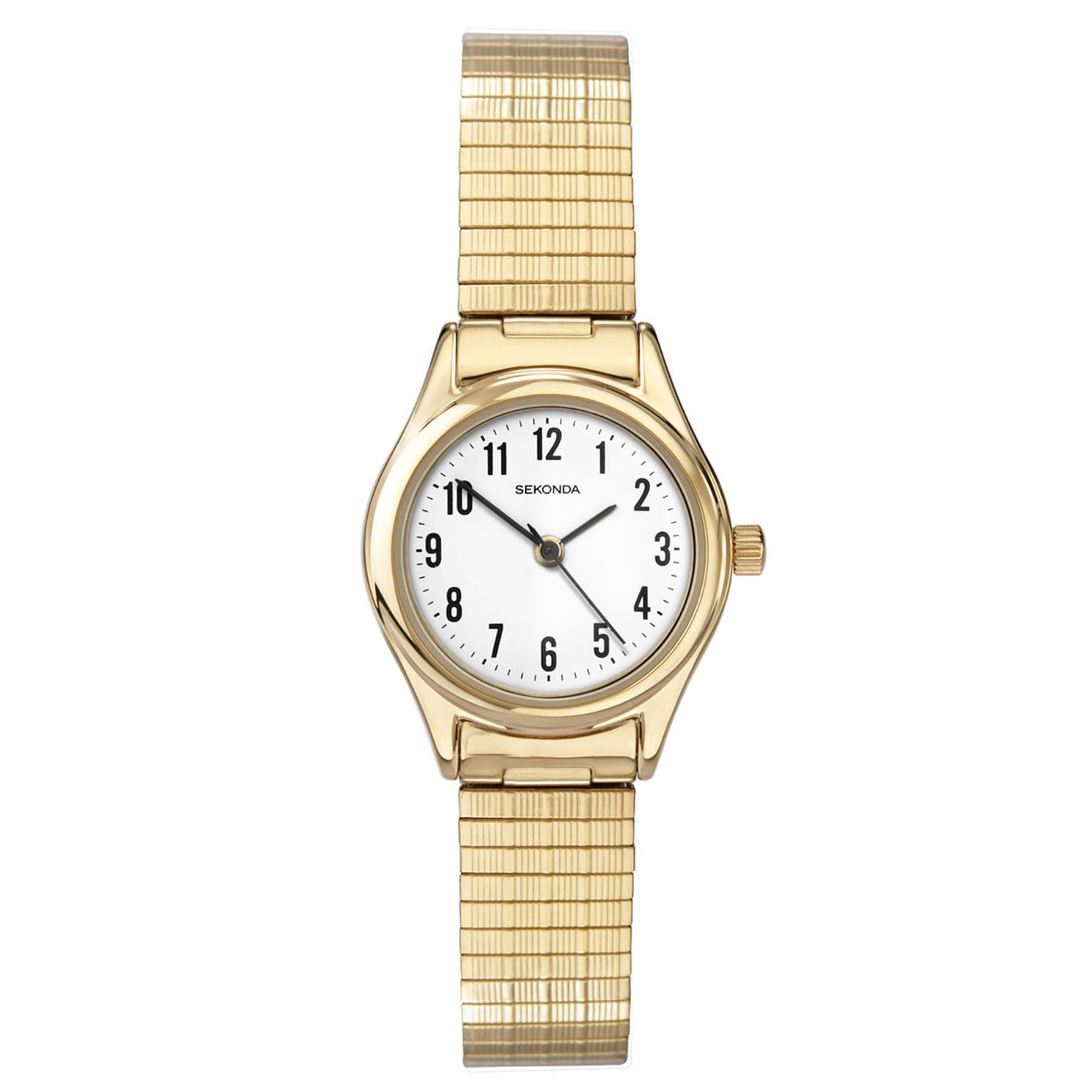Sekonda Ladies' Gold-Plated Expander Strap Watch - Product number 2052377