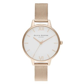 Olivia Burton White Dial Rose Gold Tone Bracelet Watch - Product number 2052881