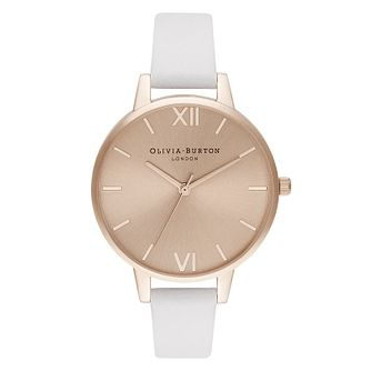 Olivia Burton Rose Sunray Dial Pink Leather Strap Watch - Product number 2052903