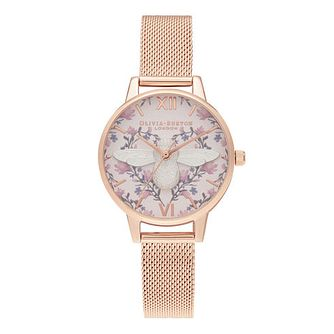 Olivia Burton Meant to Bee Ladies' Rose Gold Bracelet Watch - Product number 2052997
