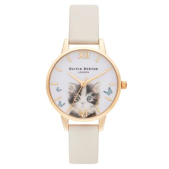 Olivia Burton Illustrated Animals Vegan Leather Strap Watch - Product number 2055422